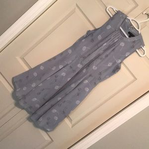 Grayish blue floral dress from banana republic!